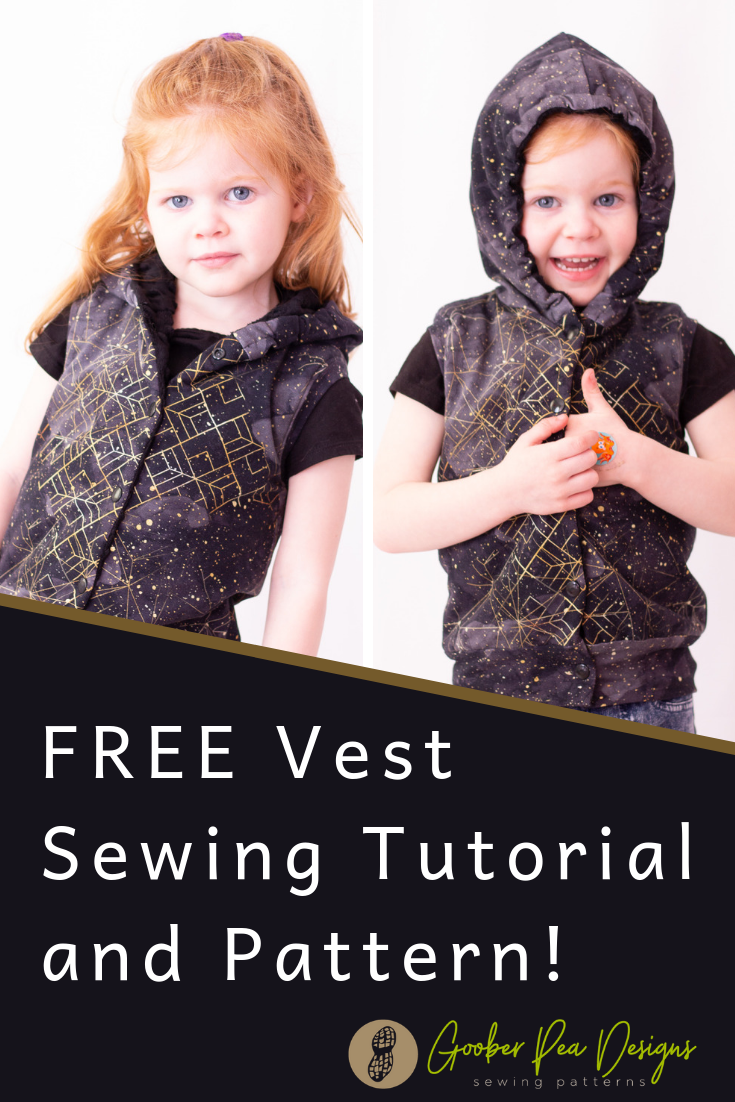 Tutorial to add a waistband to free vest pattern, printable pdf sewing pattern, reversible, easy to follow, beginner friendly. For babies / toddlers / kids, boys and girls, unisex