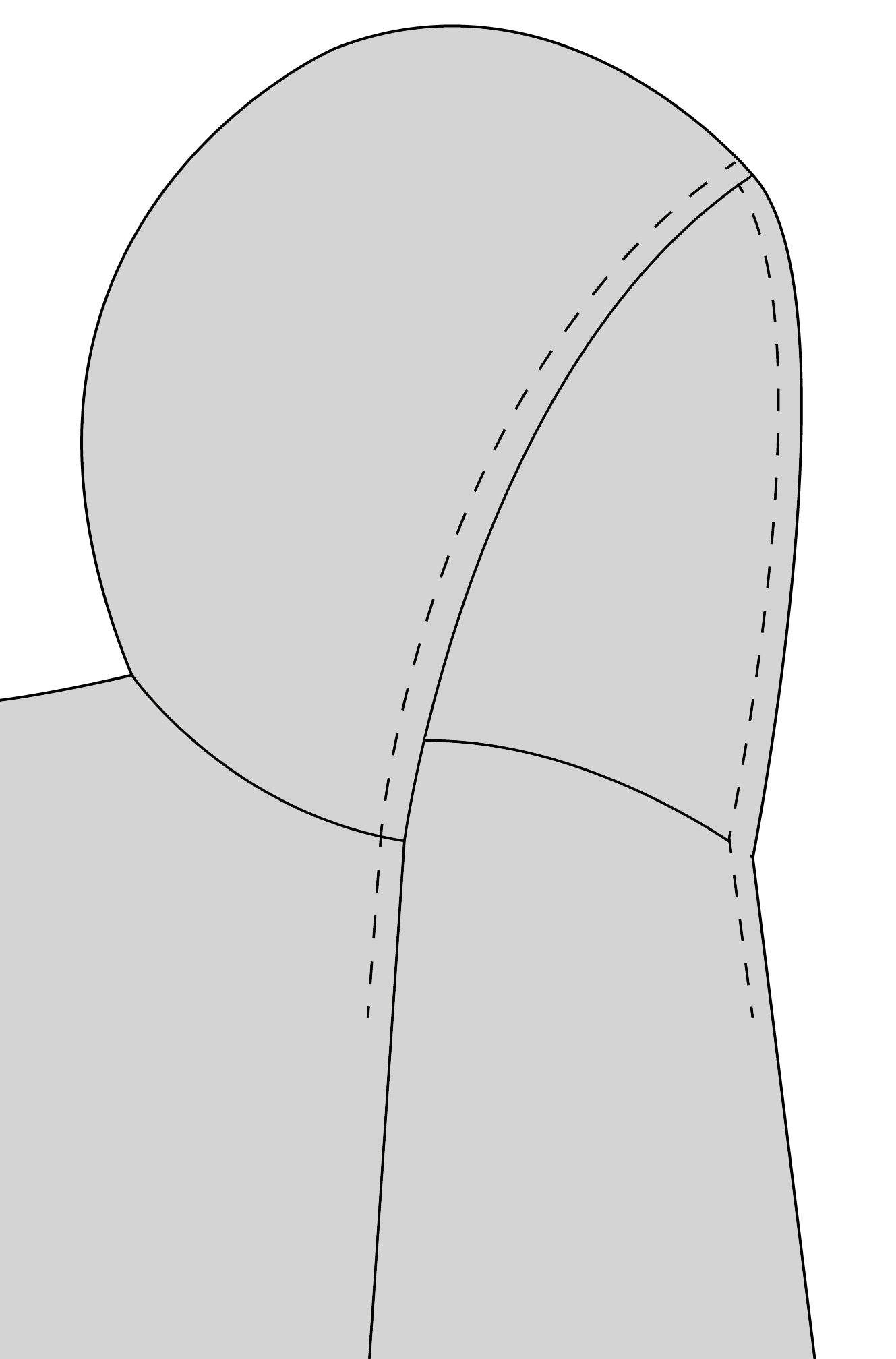 image regarding Printable Vest Pattern identified as How toward Increase Elastic in the direction of the Campbell Vest (or Jacket) Hood