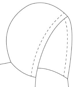 Tutorial for adding elastic casing to the hood on the FREE Basic Campbell Vest pattern. Printable PDF sewing pattern for babies / toddlers / kids, boys and girl, unisex. Reversible, easy to follow, beginner friendly.