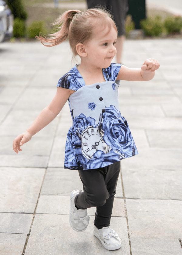 Tutorial showing how to add snaps or buttons to the bodice of the Reverie Dress printable PDF sewing pattern by Goober Pea Designs. For babies, toddlers, kids, girls. Sizes 6-12m to 14 youth.