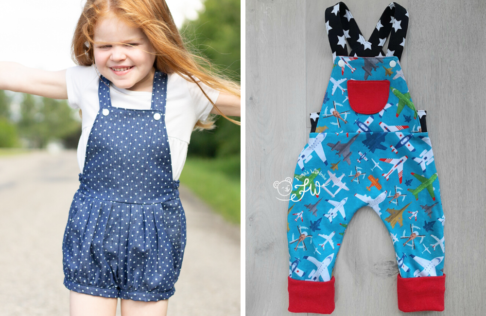 Gold River Overalls – mashups with pants or shorts patterns