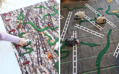 DIY Snakes and Ladders Game Mat